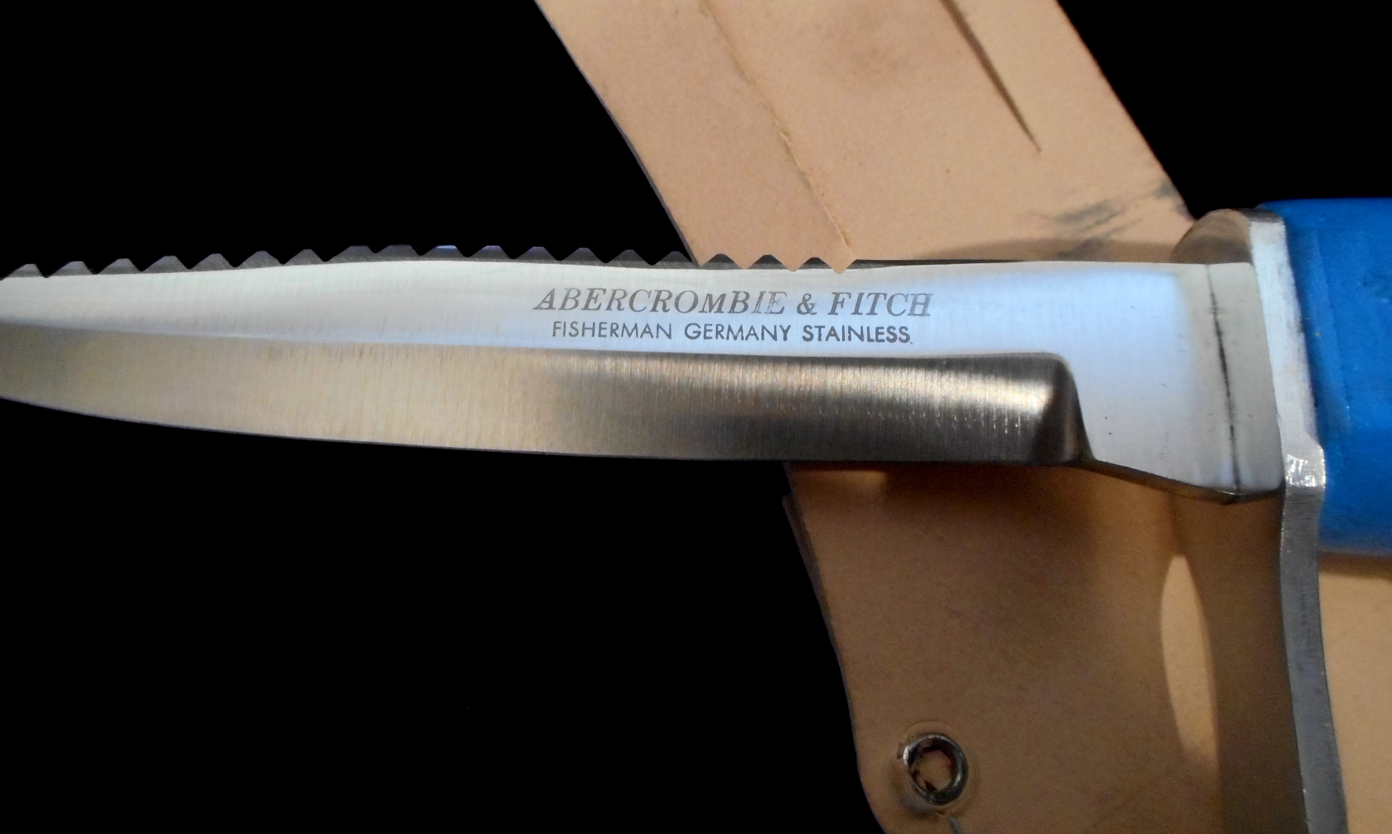 950e12c835664 Rare! MINT Antique 1950s ABERCROMBIE   FITCH Knife Old -Cork ...