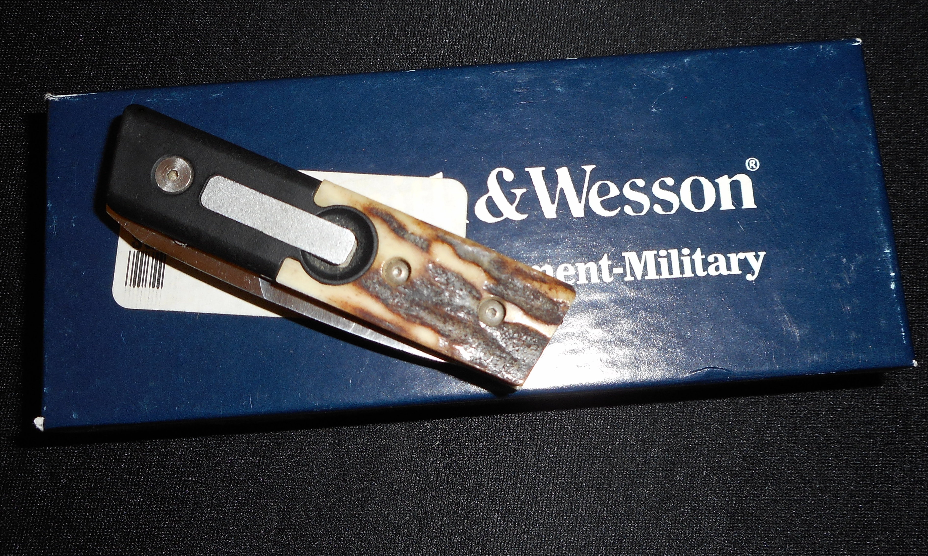 Rare Smith Amp Wesson Sw1232 Auto Knife S Amp W Stag Police