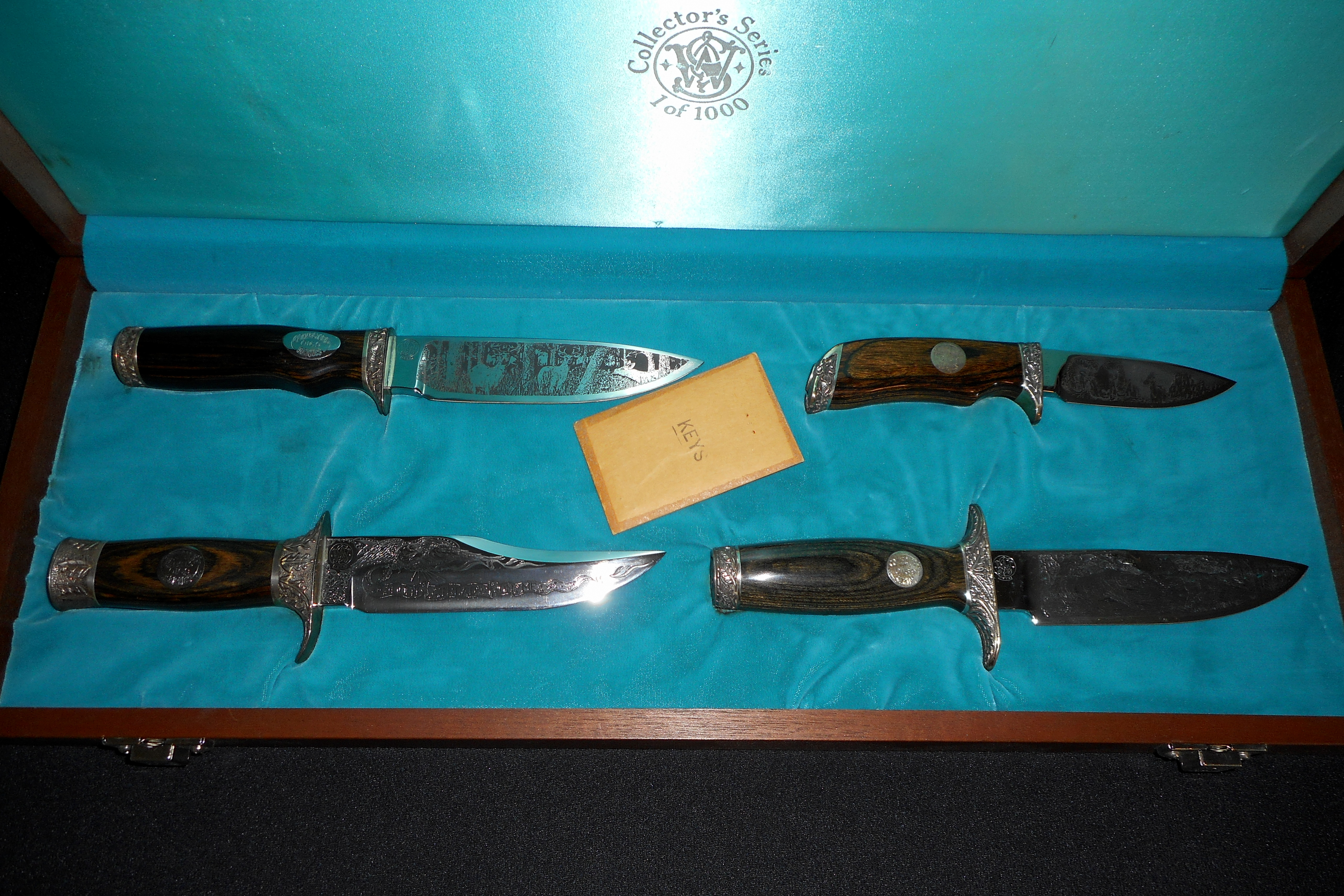 Rare Smith Amp Wesson Collectors Series Knife Set 925
