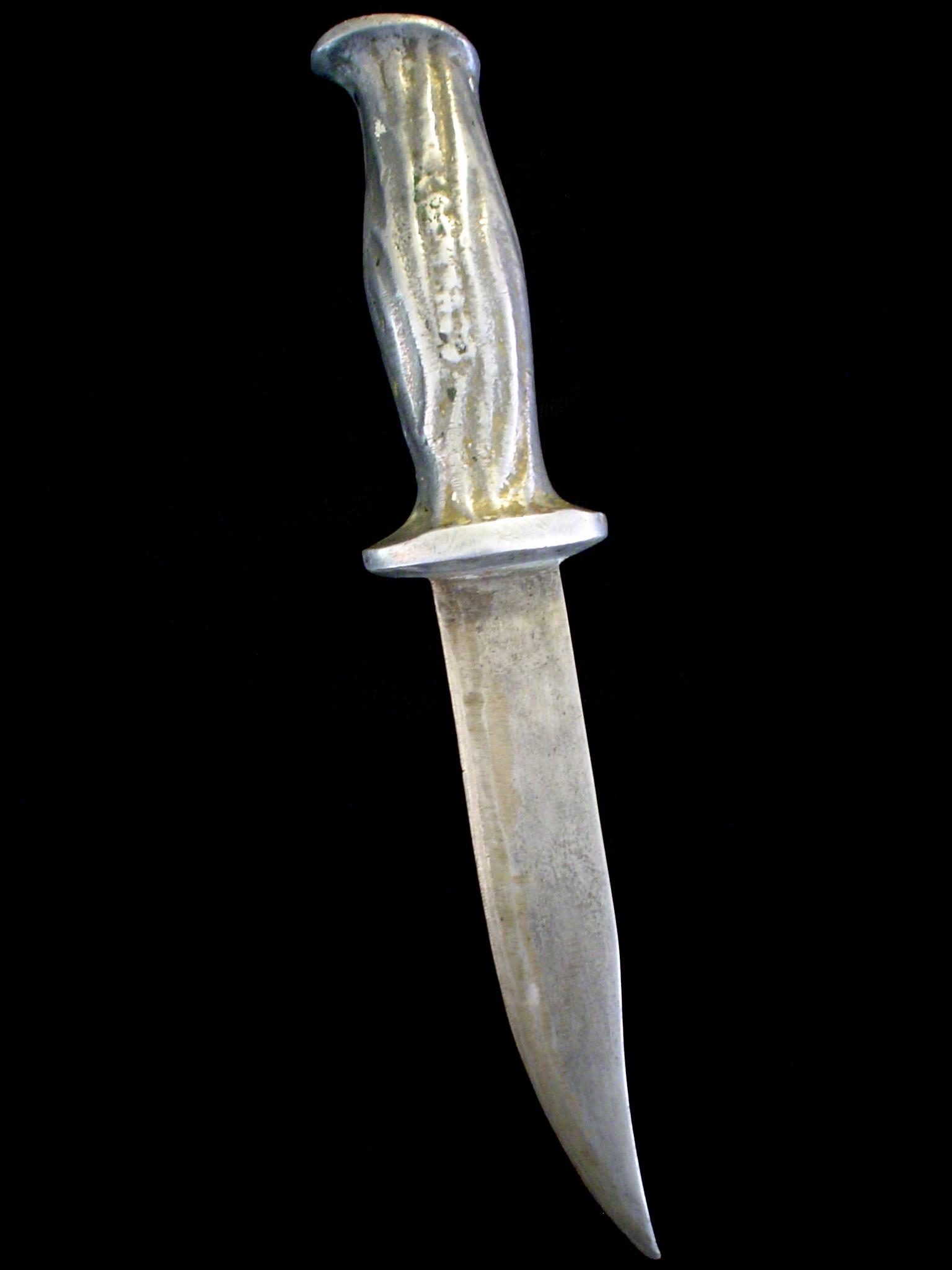 Rare Vtg Us Ww2 Barteaux Commando Fighting Knife Old