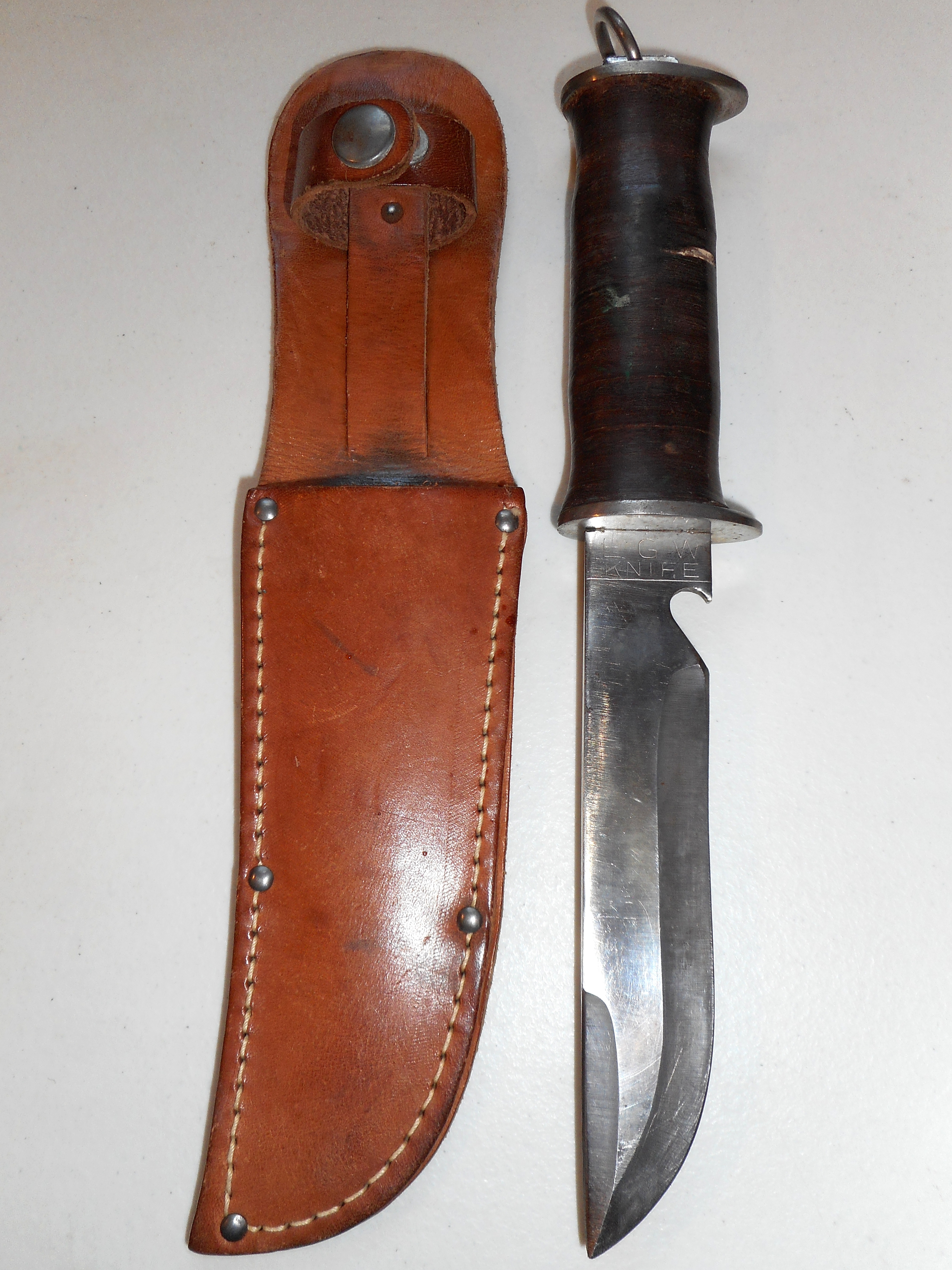 Rare Size Us Ww2 Egw Combat Fighting Knife Vtg Old