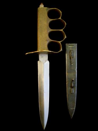 Original 1918 U S Wwi Wwii Au Lion Mark 1 Trench Knife
